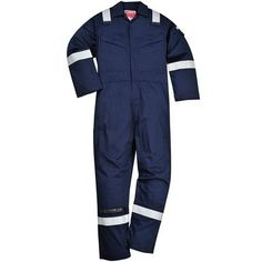 This Portwest Fr21 Super Light Weight Anti-Static Coverall is an EN ISO 11612:2008 compliant garment, providing protection against heat and flame. It also features Knee pad pockets, radio loops, a rule pocket, plus sleeve and back pockets with stud flap closure. Available in Navy and also Orange
