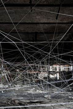 """Art installation in Berlin by  Delavega, Ephemera + Lascarr, inspired by """"Ersilia"""" from """"Invisible Cities"""" by Italo Calvino"""