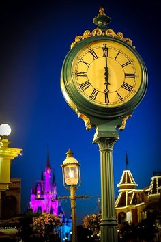 Disney land at night