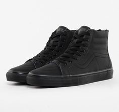 All Black Hightop Vans