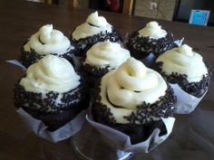Chocolate Sprinkle Jumbo Cupcakes