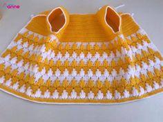 Granny Square Häkelanleitung, Granny Square Crochet Pattern, Crochet Flower Patterns, Crochet Case, Crochet Girls, Crochet Baby Shoes, Knitting Stiches, Baby Knitting Patterns, Knitting Designs