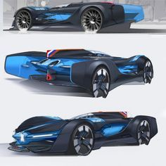 Alpine Vision Gran Turismo Concept Design Sketches by Laurent Negroni