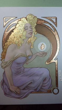 This is a contribution from Matt Hughes https://www.facebook.com/matthughesart He is living artist obsessed with Art Nouveau  Very beautifull work, awesome, increible, beleza, sugoi...