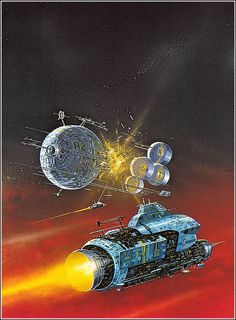 A favorite from my childhood: by Angus McKie.  Found in the Terran Trade…