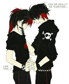 anime emo couple - Google Search