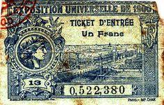 INGRESSO PARA A EXPOSIÇÃO UNIVERSAL DE PARIS, EM 1900, QUANDO VISCONTI GANHOU MEDALHA DE PRATA POR GIOVENTÚ E ORÉADAS