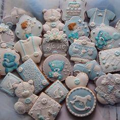Baby boy cupcakes, baby boy cookies, cookies for kids Baby Boy Cupcakes, Baby Boy Cookies, Cupcakes For Boys, Baby Shower Cookies, Cute Cookies, Baby Boy Birthday, Birthday Cake Girls, Birthday Cookies, Lightning Mcqueen Birthday Cake