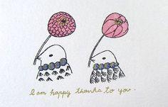 ポストカード・花と鳥