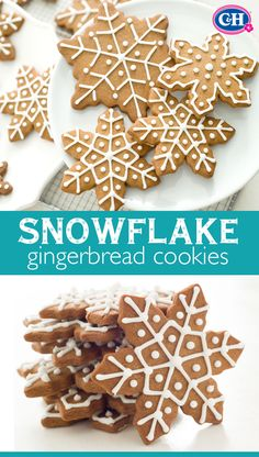 These Snowflake Gingerbread Cookies bring out the festive and fun in less time. Cutting out cooling time for the dough means more time for decorating these pretty and seasonal snowflake cookies.