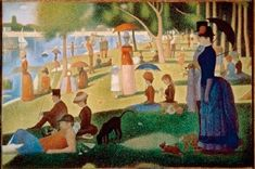Sunday Afternoon on the Island of the Grand-Jatte  (1884-1886) - Georges Seurat