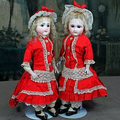 Twin Gebruder Kuhnlenz Closed Mouth Dolls Marked 28.25 from ~ SIGNATURE DOLLS ~ found @Doll Shops United http://www.dollshopsunited.com/stores/Signaturedolls/items/1300607/Twin-Gebruder-Kuhnlenz-Closed-Mouth-Dolls-Marked-2825 #dollshopsunited