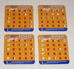 Travel Bingo Game Cards (4) Interstate Highway New Road Trip Kids Truck Sign Set #RegalGames