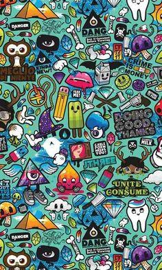 Cartoon Wallpaper, Graffiti Wallpaper Iphone, Wallpaper Doodle, Hipster Wallpaper, Diy Wallpaper, Galaxy Wallpaper, Mobile Wallpaper, Wallpaper Backgrounds, Wallpaper Spongebob