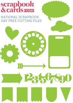 Scrapbook & Cards Today - National Scrapbook Day - Free cutting file