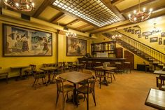Prohibition-Era Bowling Restored to It's Original Glory Photos) Originally established in 1927 during the prohibition era historic roo. Bowling, Highland Park Bowl, Dining Area, Dining Table, Steampunk, Historical Architecture, Interior Design Inspiration, Preserves, Restoration
