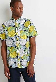 Flower Print Shirt | 21 MEN - 2002247039