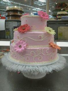 wedding cake for display at work.