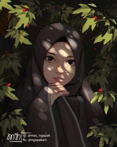 "Ngapak art (@mas_ngapak): ""Digital painting semirealism . . . . . . . #digital_painting #sketching #anime #animegirl…"""