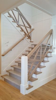10 Design Trends that will Update Your Home – Lindsay Hill Interiors – Home Renovation Modern Stair Railing, Staircase Railings, Modern Stairs, Staircase Design, Bannister, Stairway Railing Ideas, Interior Railings, Spiral Staircases, Grand Staircase