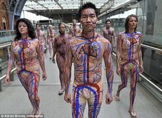 People as art! Great if you get the right numbers in the right place