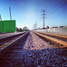 Green screen on the wrong side of the tracks - Greg Baxter, via twitter (he's the visual effects guy on the Divergent set, if you're wondering who he is!)