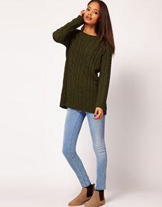 Enlarge ASOS Aran Boyfriend Sweater - $64