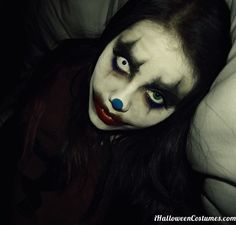 scary clown makeup for Halloween - Halloween Costumes 2013