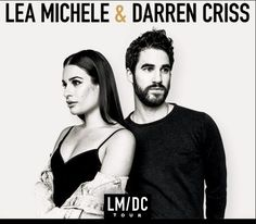 Lea Michele & Darren Criss poster for their Tour.