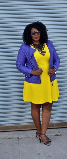 Yellow + purple. Plus szie #fashion #blogger #curves #summer