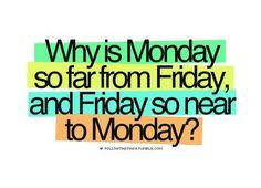 Mondays vs Fridays