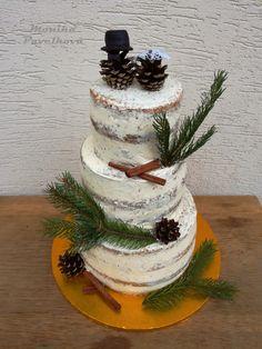 Natural naked wedding CAKE. Lesní nahý svatební DORT.