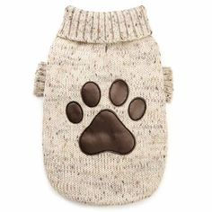 Tiger's Puppy Closet                                     Brown Paw Print Dog Sweater                    Stylish & Chic                                                 Get Yours Today