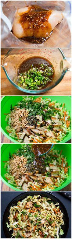 Grilled Ginger-Sesame Chicken Chopped Salad | kitchenshares