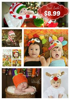 Holiday Crochet Hats