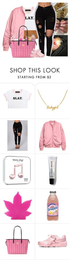 """"""""""" by kennisha84 ❤ liked on Polyvore featuring H&M, Bobbi Brown Cosmetics, Market, MCM and Puma"""