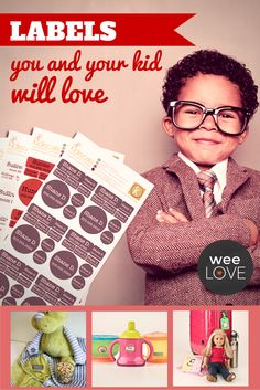Labels you and your kids will love | Want to get weeLove in your inbox? www.wee.co/weelove