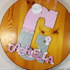 Custom Nursery Letters, Nursery Art, Baby Nursery Decor, Decorative Letter, Wall Art, Custom Name, Letter, hanging decoration, birthday gift by LybelleCreations on Etsy