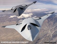 Concept for a next generation air dominance European fighter jet. Drawn in 3D Studio Max and rendered with V-Ray.