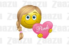 Smiley Heart Smiley, Love Smiley, Peace And Love, Love You, Emo Love, Smileys, Emoticon, I Smile, Pink Girl