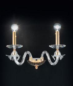 OR Lampada da parete in vetro soffiato 108/A2 c