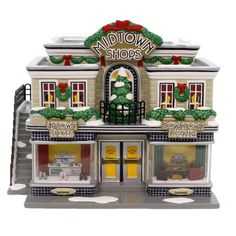 Lampoon's Christmas Vacation, Christmas Store, Christmas In The City, Christmas Things, Light Building, Brick Building, Leather Store, Christmas Village Houses, Peanuts Christmas