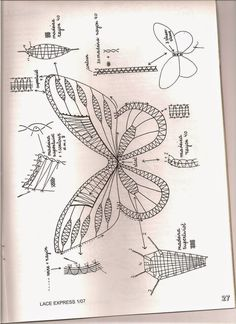 "Кружева на коклюшках: Журнал "" Lace Express"" № 1/2007 Denim Crafts, Yarn Crafts, Bobbin Lace Patterns, Crochet Patterns, Bruges Lace, Romanian Lace, Bobbin Lacemaking, Crochet Butterfly, Lace Heart"