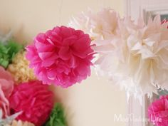 Mod Vintage Life: Tissue Paper Flowers - The Tutorial