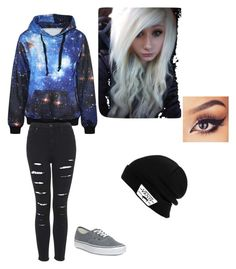 """""""Winter Galaxy"""" by kaelynanne on Polyvore featuring Vans"""