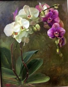 "Daily+Paintworks+-+""Orchids""+-+Original+Fine+Art+for+Sale+-+©+Tatsiana+Mikhailava"