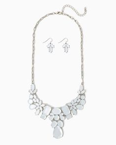 $13.00!!! charming charlie   Olivia Statement Necklace Set   UPC: 410006626751 #charmingcharlie
