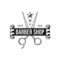 Barber shop vector vintage label badge or emblem on white background vector template Template Barber Poster, Barber Logo, Barber Tattoo, Barber Tips, Barber Shop Vintage, Barber Accessories, Barber Shave, Barber Haircuts, Barbershop Design