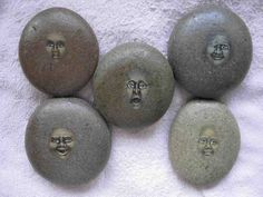 These stone faces had alot emotional characteristics to them, which inspired me to try natural materials