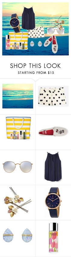 """""""Summer walk"""" by krissel1 on Polyvore featuring moda, Clinique, Keds, Ray-Ban, DKNY, Melissa Joy Manning, summerstyle, CasualChic y summer2017"""